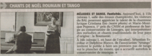 1annonce-journal 11-dec-2011 concert Cristiana Eso-mbal-limoges